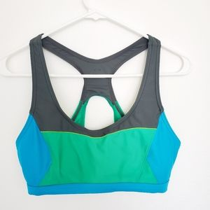 prAna sports bra yoga top color block